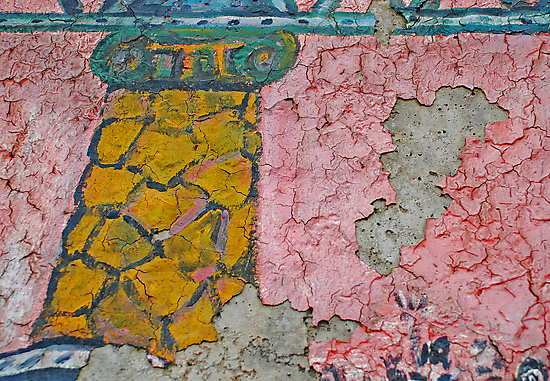 Crackled Surface on the Berlin Wall by Michael Brewer