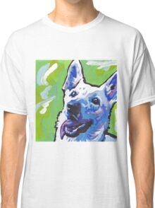 White German Shepherd Bright colorful pop dog art Classic T-Shirt