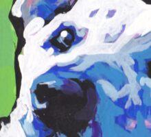 White German Shepherd Bright colorful pop dog art Sticker