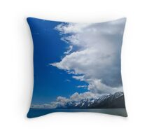 Clouds over the Lake Throw Pillow