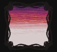 Pixel Sky- Sunset One Piece - Short Sleeve