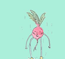 A Radish in the Rain by Beejo