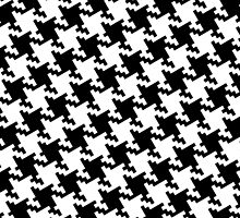 Bold Houndstooth Pied de Poule Pattern by Garaga