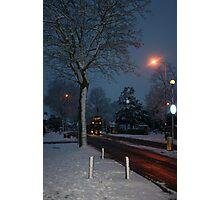 Seasonal Greetings in the Winter Snow, ( London@Christmas ) Photographic Print