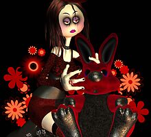 """So What?"" - Moonies Gothic Rag Doll And Rabbit by Moonlake"