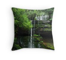 Russell Falls - Mt Field National Park Throw Pillow