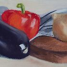 Eggplant and friends by JulieWickham