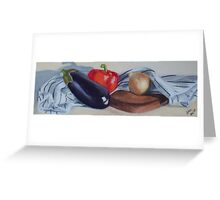 Eggplant and friends Greeting Card