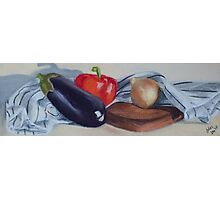 Eggplant and friends Photographic Print