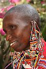 Portrait of an Older Maasai (or Masai) Woman, East Africa   by Carole-Anne