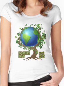 Earth Day 2 Women's Fitted Scoop T-Shirt