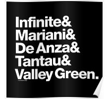 Apple Digs Infinite Loop & Tantau Ave Ampersand Helvetica Getup Poster
