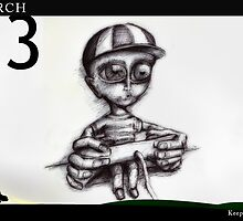 March 13th - Keep watching by 365 Notepads -  School of Faces