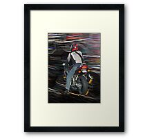 Motorcycle Cruising Framed Print