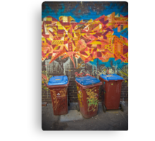 Croft Alley Bins Canvas Print