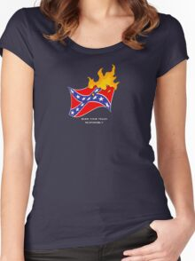 Burn Your Trash Responsibly Women's Fitted Scoop T-Shirt