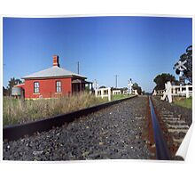 Rail crossing somewhere near Tamworth, NSW Poster