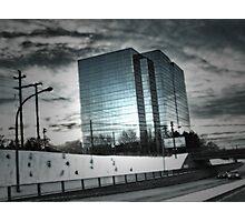 City Winter Scene Photographic Print