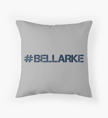 #BELLARKE (Navy Text) Throw Pillow