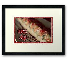 EAT ME - SUSHI Framed Print