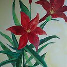Red Lilies by moumita