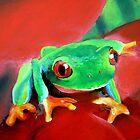 """""""Green Tree Frog""""  by Taniakay"""
