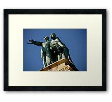 Millennium Monument. Budapest, Hungary Framed Print