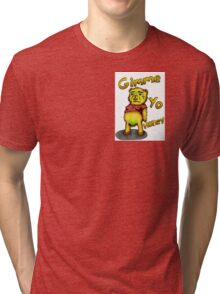 Creepy Pooh Bear- Gimmie Yo Honey Tri-blend T-Shirt