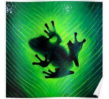 """Hide and seek"" Green tree frog Poster"