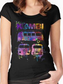 Volkswagen Kombi 3 Way (bright) © Women's Fitted Scoop T-Shirt