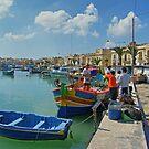 Marsaxlokk Harbour by Tom Gomez