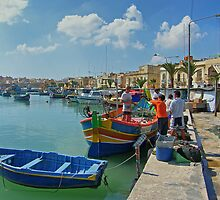 Marsaxlokk Harbour by Tom Gomez