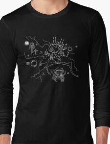 Twin Peaks - Owl Cave Map Long Sleeve T-Shirt