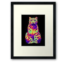 Psychedelic Cat III Framed Print