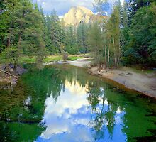 """Half Dome & Merced River"" by Lynn Bawden"