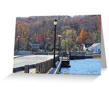 Centerport Bridge in the Fall Greeting Card