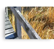 Weathered Pier over the Marsh Grasses Canvas Print