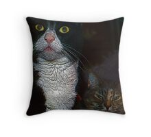 Little A & Gracie Throw Pillow