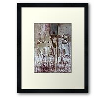 Rusty Delivery Framed Print