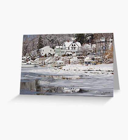 Icy Snowy Winter Wonderland Greeting Card