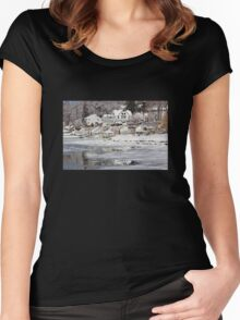 Icy Snowy Winter Wonderland Women's Fitted Scoop T-Shirt