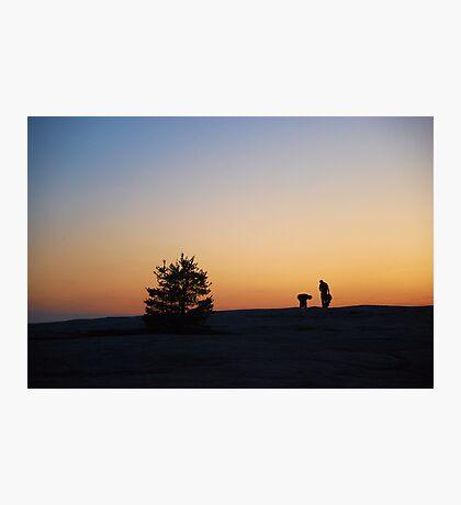 Stone Mountain Dusk Photographic Print