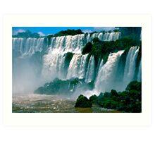 Las Cataratas de Iguazu Art Print