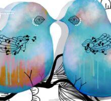 Turquoise Love Birds Sticker
