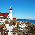 Portland Light Maine  by John  Kapusta