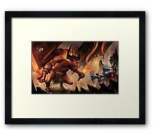 One Demon, Three Kings Framed Print