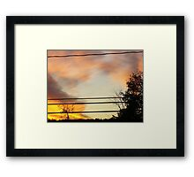 brush with fire Framed Print