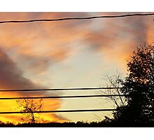 brush with fire Photographic Print