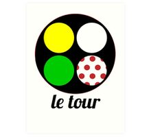 le tour jerseys Art Print