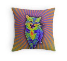 Psychedelic Kitty (Remaster) Throw Pillow